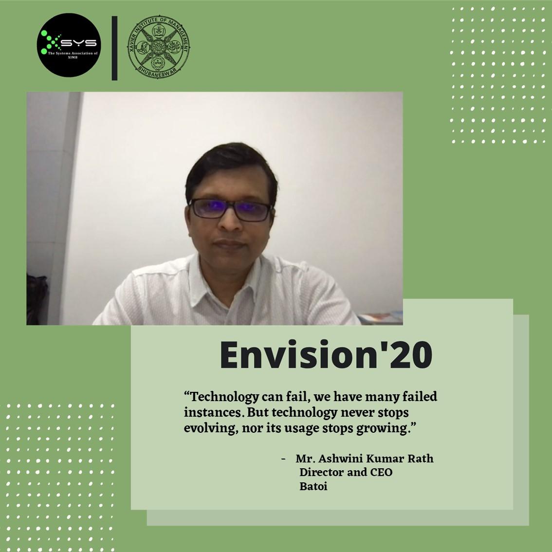 Speaking at XIMB Envision 2020